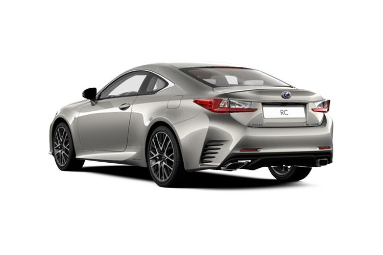 Lexus RC F Coupe 5.0 V8 463PS Track Edition 2Dr Auto back view